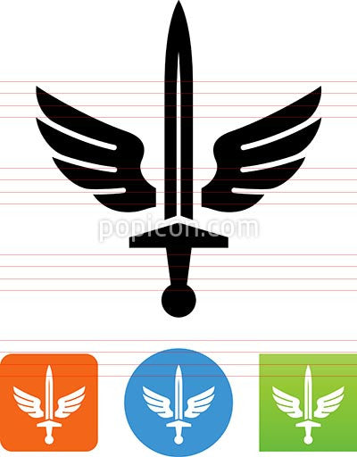 Sword With Wings Icon