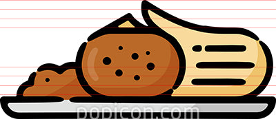 Tamale Plate Hand Drawn Icon