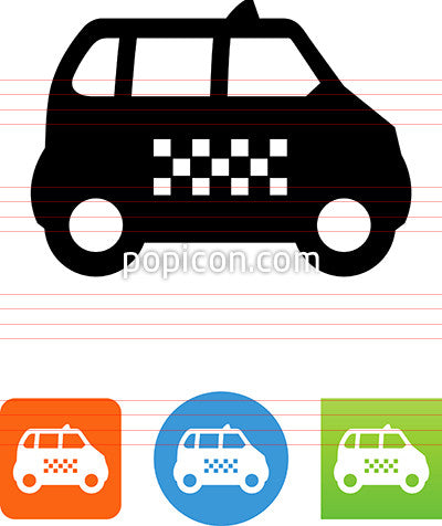 Taxi Shuttle Side View Icon