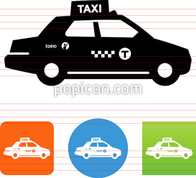 Taxi Side View Icon