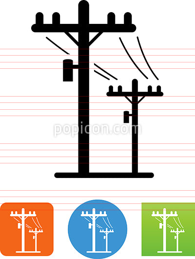 Telephone Poles Icon