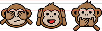 Three Wise Monkeys Hand Drawn Icon