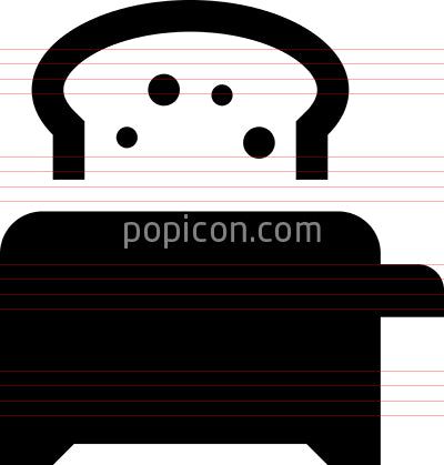 Toaster Vector Icon