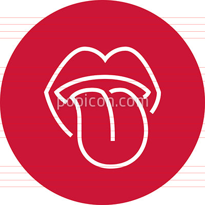 Tongue Sticking Out Mouth Outline Icon