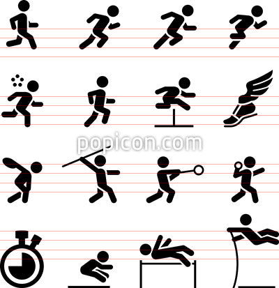 Track and Field Icons