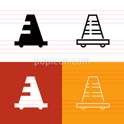 Traffic Cone Icon Set