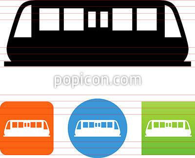 Train Side View Icon