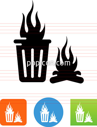 Trash Fire Icon