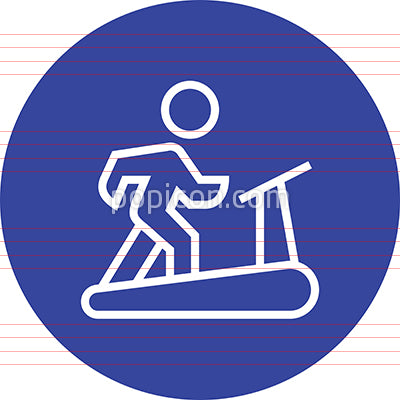 Treadmill Exercise Fitness Outline Icon