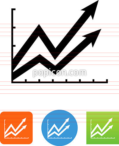 Trend Chart With Arrows Icon