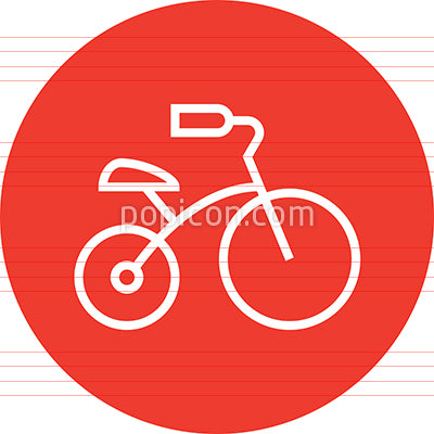 Tricycle Child's Toy Outline Icon