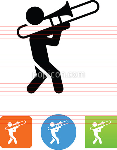 Trombone Player Icon
