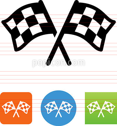 Two Checkered Flags Racing Icon