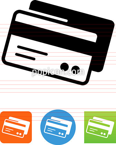Two Credit Cards Showing Magnetic Strip Icon
