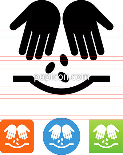 Two Hands Planting Seeds Icon