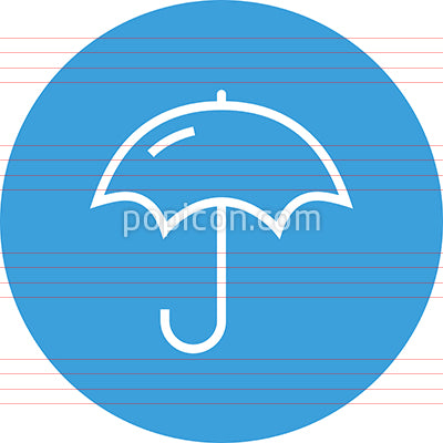 Umbrella Parasol Vector Outline Icon