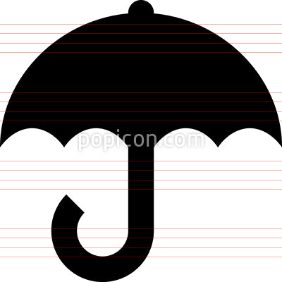 Umbrella Parasol Vector Icon