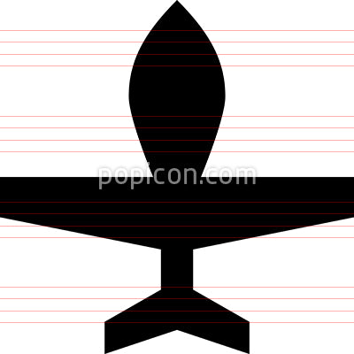 Unmanned Drone Airplane Icon
