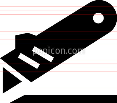 Utility Knife Box Cutter Icon