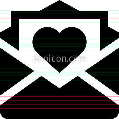 Valentine Love Letter Vector Icon