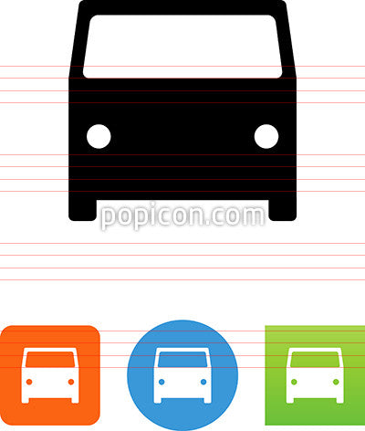 Van Front View Icon