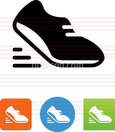 Vector Athletic Shoe Icon