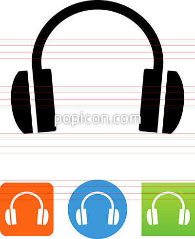 Vector Audio Headphones Icon