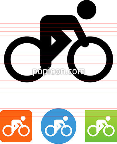 Vector Bike Racer Icon