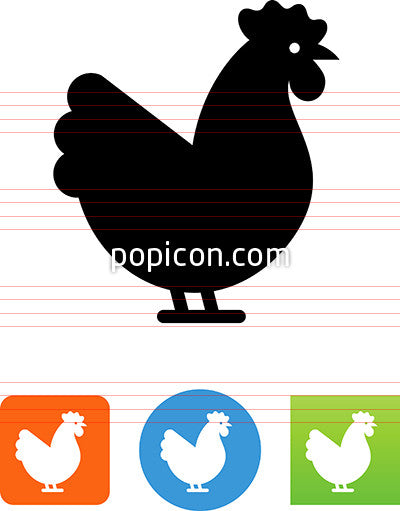Vector Chicken Icon