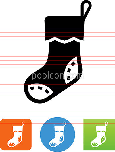 Vector Christmas Stocking Icon