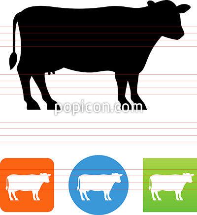 Vector Dairy Cow Silhouette Icon