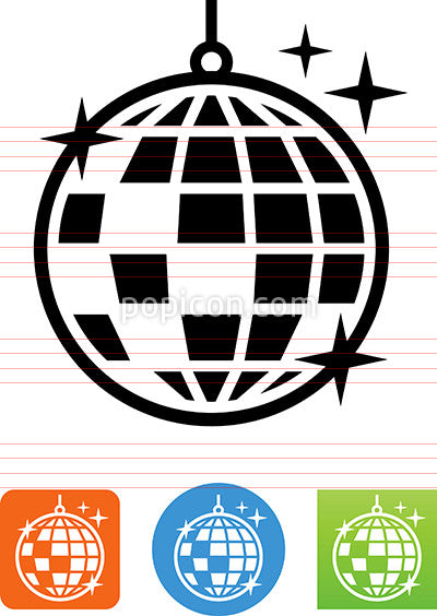 Vector Disco Ball Icon