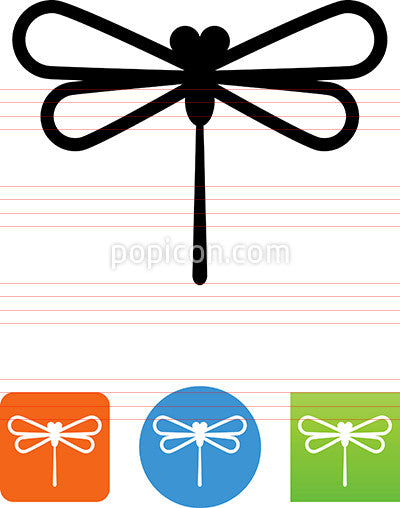 Vector Dragonfly Icon