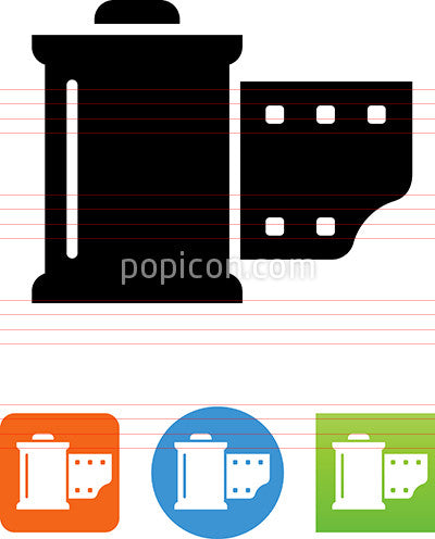 Vector Film Canister Icon