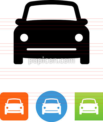 Vector Front View Compact Car Icon