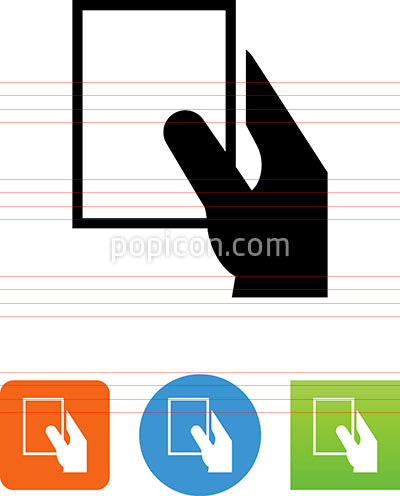 Vector Hand Holding Ticket Icon
