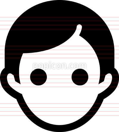 Vector Mans Head Icon