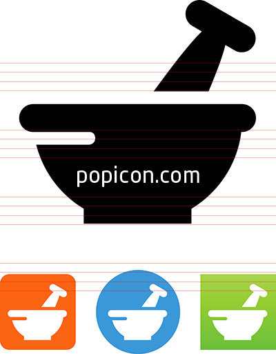 Vector RX Mortar And Pestle Icon