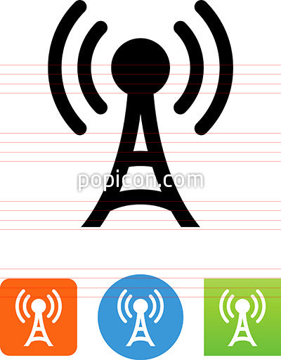 Vector Radio Tower Icon