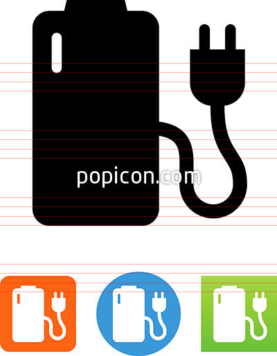 Vector Rechargeable Battery Icon