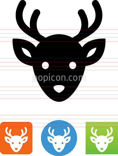 Vector Reindeer Head Icon