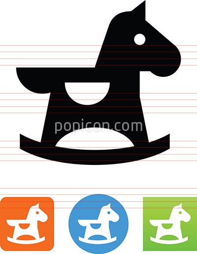Vector Rocking Horse Icon
