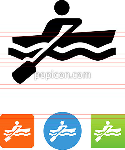 Vector Rowboat Icon