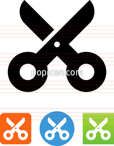 Vector School Scissors Icon