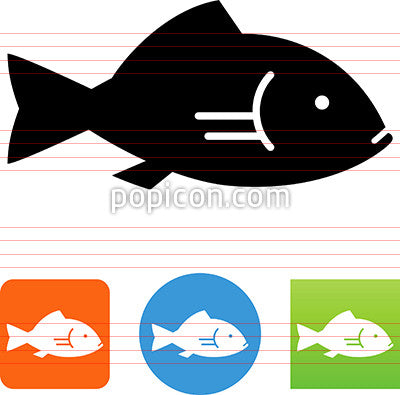 Vector Seafood Fish Icon