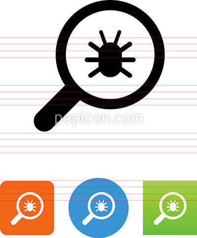 Vector Search For Bugs Icon