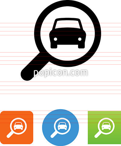Vector Search For Cars Icon