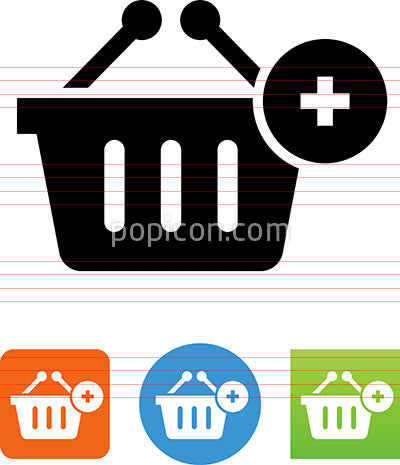 Vector Shopping Basket Add Icon