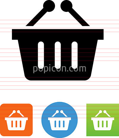 Vector Shopping Basket Icon