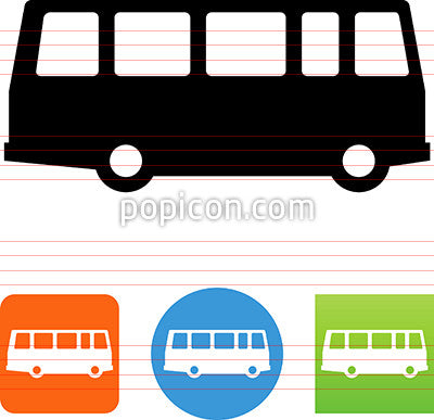 Vector Side View Bus Icon
